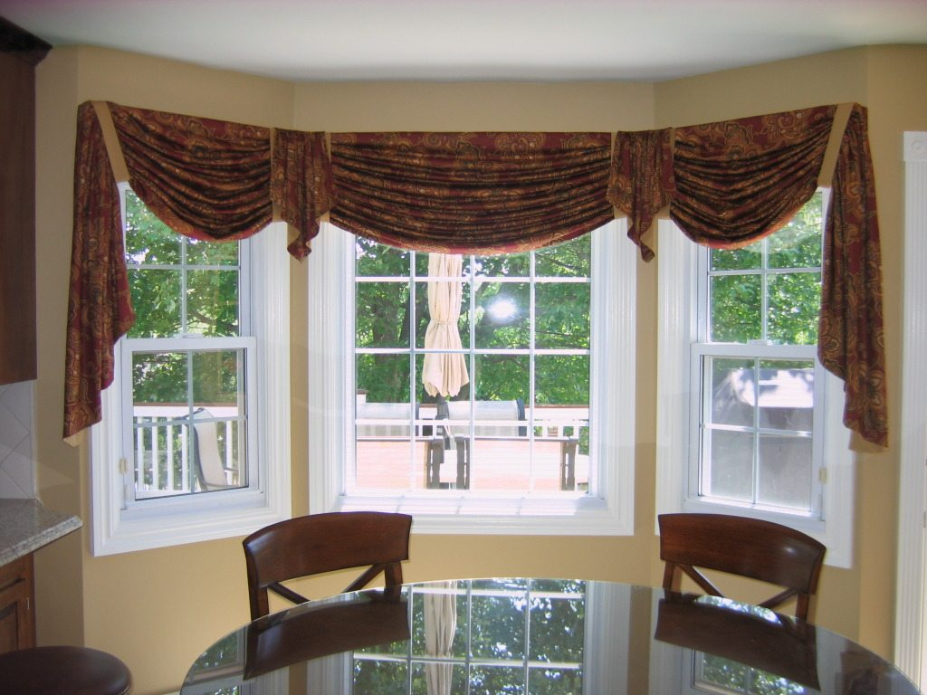 Valances For Bay Windows : Swags valances interior designer in stratford ct